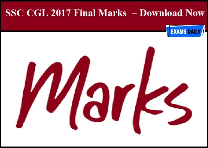SSC CGL 2017 Final Marks – Download Now